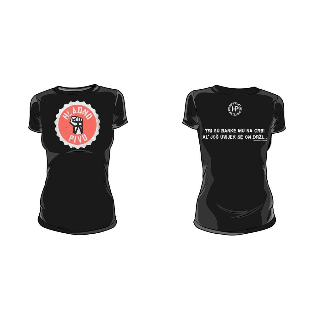 T-shirt – Hladno pivo čep (ženska)
