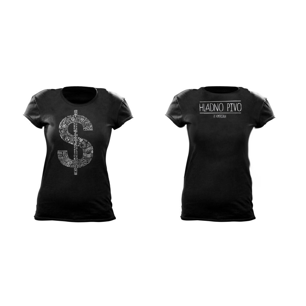 T-shirt - Hladno pivo je komercijala (ženska)